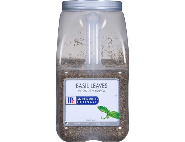 McCormick Culinary Basil Leaves, 22 oz. -- 3 per case