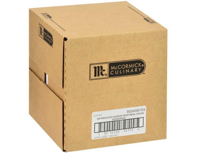 McCormick Grill Mates Reduced Sodium Montreal Steak Seasoning, 24 oz. -- 6 per case