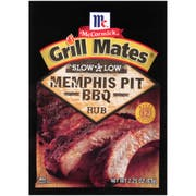 Mccormick Grill Mates Slow and Low Memphis Pit Bbq Rub, 2.25 Ounce -- 10 per case.