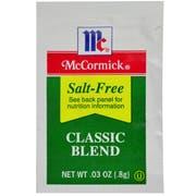McCormick Culinary Salt-Free Classic Blend, 0.8 g -- 300 per case