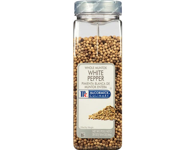 McCormick Culinary Whole White Pepper, 20 oz. -- 6 per case