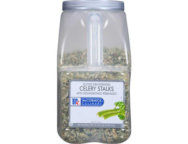 McCormick Culinary Celery Stalk Slices, 26 oz. -- 3 per case