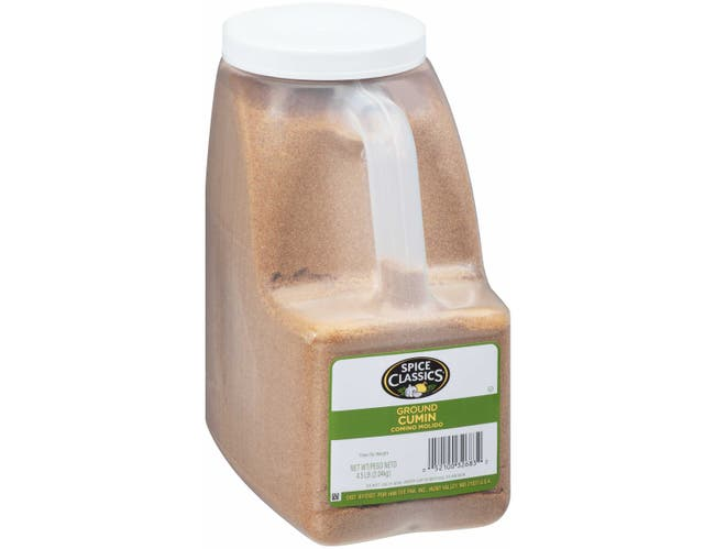 Spice Classics Ground Cumin - 4.5 lb. container, 3 per case