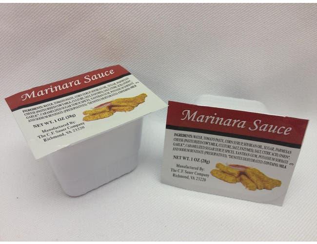 C.F. Sauer Foods Marinara Sauce, 1 Ounce -- 100 per case.