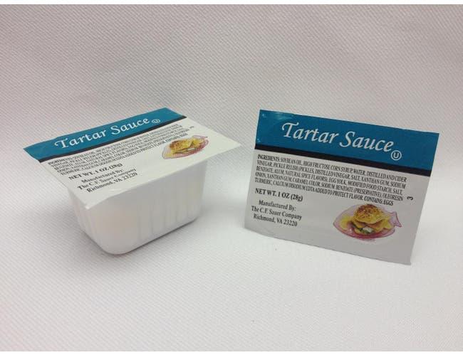C.F. Sauer Foods Tartar Sauce, 1Ounce -- 100 per case.