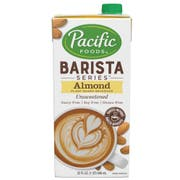 Pacific Foods Original Barista Series Unsweetened Almond Beverage, 32 Ounce -- 12 per case