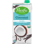 Pacific Foods Organic Coconut Unsweetened Vanilla, 32 Ounce -- 12 per case.