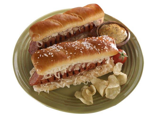 J and J Snack Texas Twist Gourmet Soft Pretzel Hot Dog Bun, 3.2 Ounce -- 50 per case.
