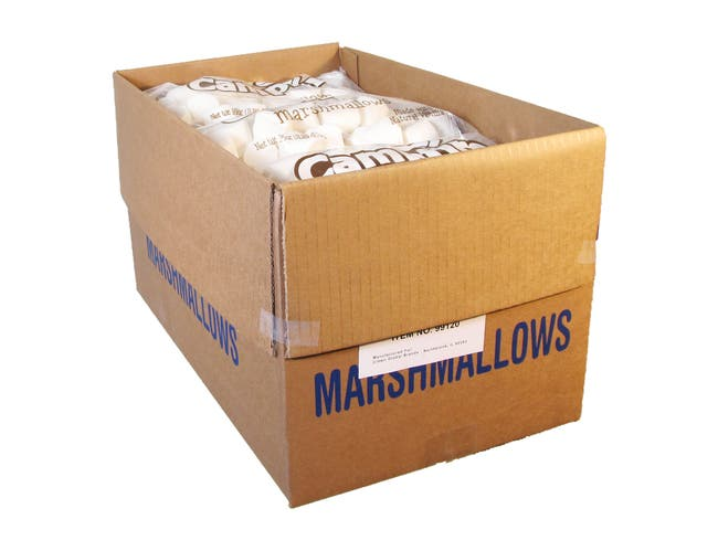 Campfire Large Natural Vanilla Marshmallow, 1 Pound -- 12 per case.