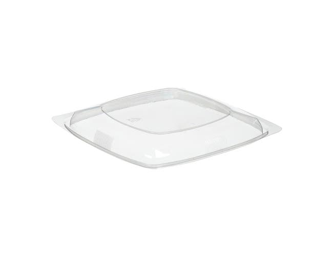 WNA Par Pack PETE Thermoform Clear Dome Lid for Medium Square Bowl -- 300 per case.