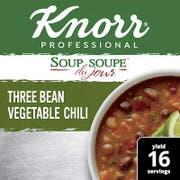 Knorr Professional Soup Du Jour Three Bean Vegetable Chili, 28.2 Ounce -- 4 per case
