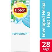 Lipton Peppermint Enveloped Hot Tea Bags, 28 count -- 6 per case