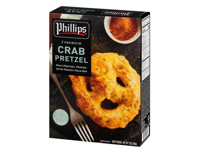 Phillips Frozen Crab Pretzel, 7 Ounce -- 12 per case.