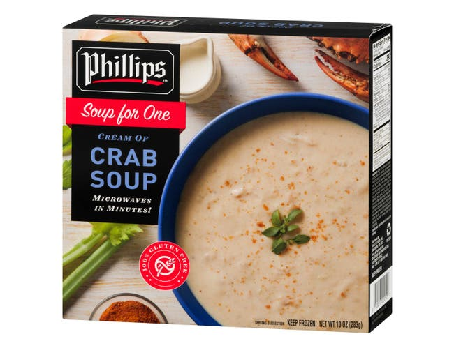 Phillips Foods Cream of Crab Soup, 10 Ounce -- 12 per case.