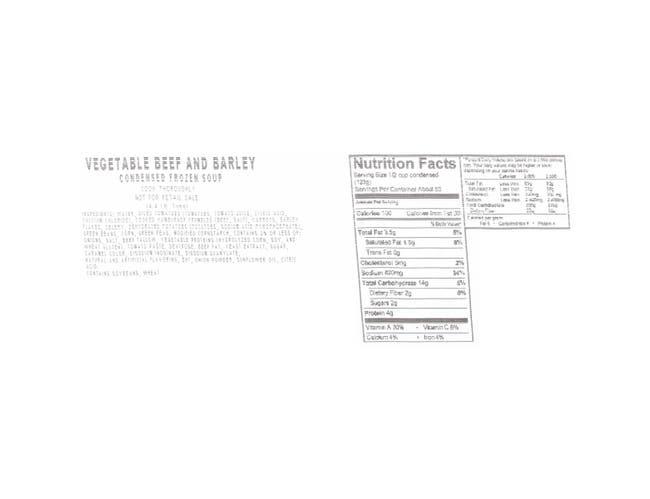 Chef Francisco Vegetable Beef and Barley Soup - 4 lb. bag, 4 per case