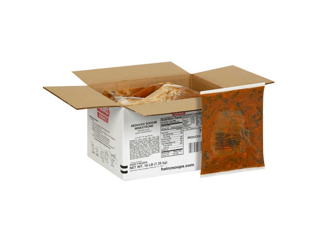 Heinz Reduced Sodium Minestrone Soup Bag, 16 Pound -- 1 each.