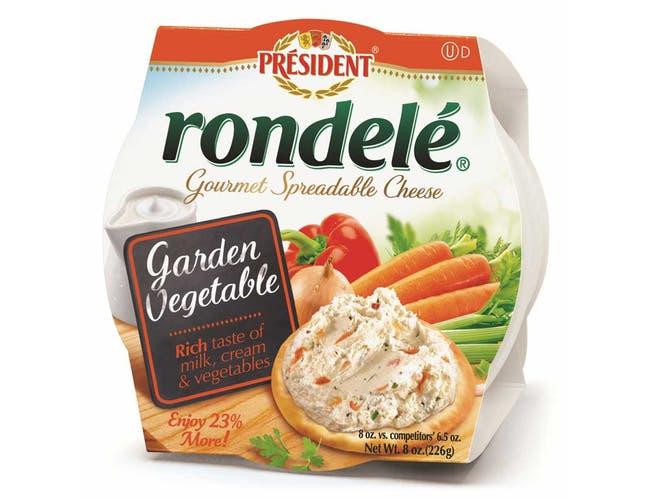 Rondele Gourmet Garden Vegetable Cheese Spread, 8 Ounce -- 12 per case.