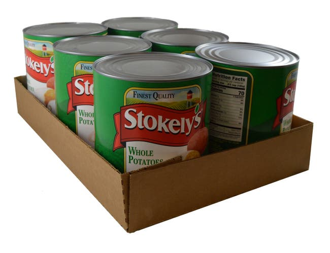 Stokely Whole White Potatoes - no. 10 can, 6 cans per case