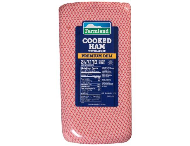 Farmland Water Added Premium Deli Cooked Ham, 4 x 6 inch -- 4 per case.