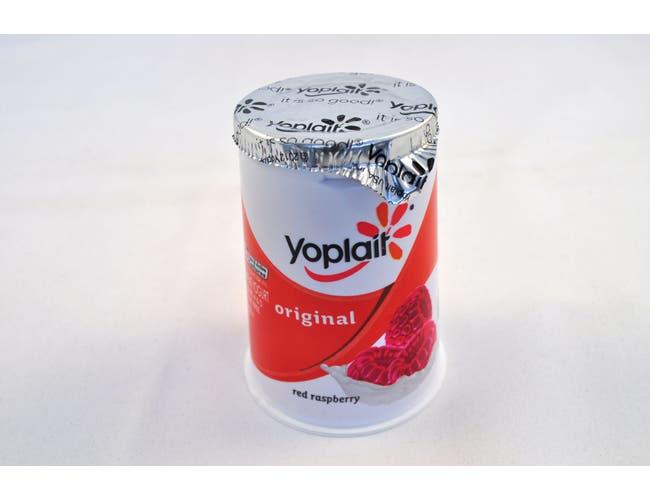 Yoplait Original Red Raspberry Yogurt, 6 Ounce -- 12 per case.