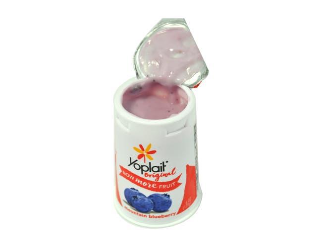 Yoplait Original Blueberry Yogurt, 6 Ounce -- 12 per case.