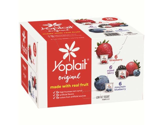 Yoplait Original Mixed Berry/Blueberry/Strawberry Low Fat Yogurt, 108 Ounce -- 1 each.