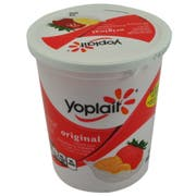 Yoplait Original Smooth Style Creamy Strawberry Banana Flavored Low Fat Yogurt, 32 Ounce -- 6 per case