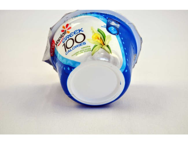 Yoplait 100 Calorie Vanilla Greek Yogurt, 5.3 Ounce -- 12 per case.