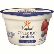 Yoplait Greek 100 Protein Mixed Berry Yogurt, 5.3 Ounce -- 12 per case.
