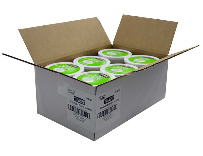 Tulkoff Chopped Garlic in Oil - 32 oz. container, 6 per case