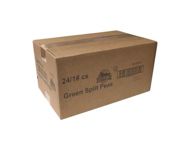 Jack Rabbit Green Split Peas, 1 pound packages -- 24 packages per case
