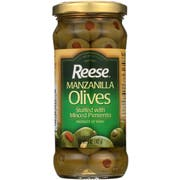Reese Manzanilla Olives Stuffed with Minced Pimento, 5 Ounce -- 6 per case