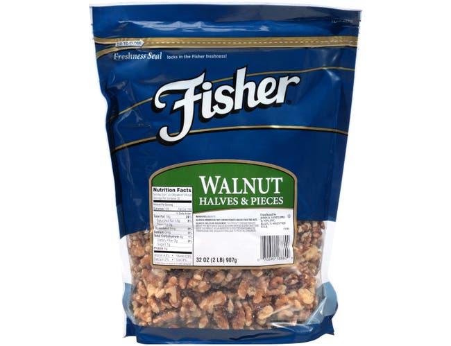Fisher Chefs Naturals Halve and Piece Walnut, 2 Pound -- 3 per case.