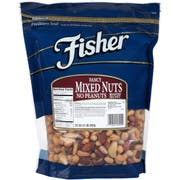 Fisher Fancy Mixed Nuts No Peanuts, 32 Ounce -- 3 per case.