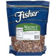 Fisher Medium Walnut Pieces, 32 Ounce -- 3 per case.
