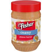 Fisher Creamy Peanut Butter, 18 Ounce -- 12 per case.