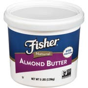 Fisher Natural Almond Butter, 80 Ounce -- 2 per case.