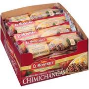 Ruiz Foods Supreme Shredded Chimichanga Steak and Cheese, 5 Ounce -- 24 per case.