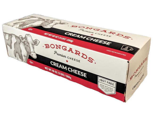 Bongards Cream Cheese, 3 Pound -- 10 per case