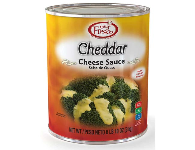 Muy Fresco Cheddar Cheese Sauce, Number 10 Can -- 6 per case.