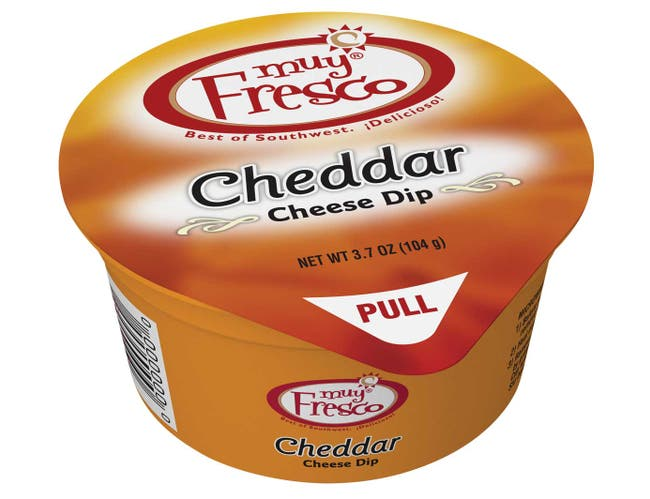 Muy Fresco Cheddar Cheese Dip, 3.7 ounce -- 30 per case
