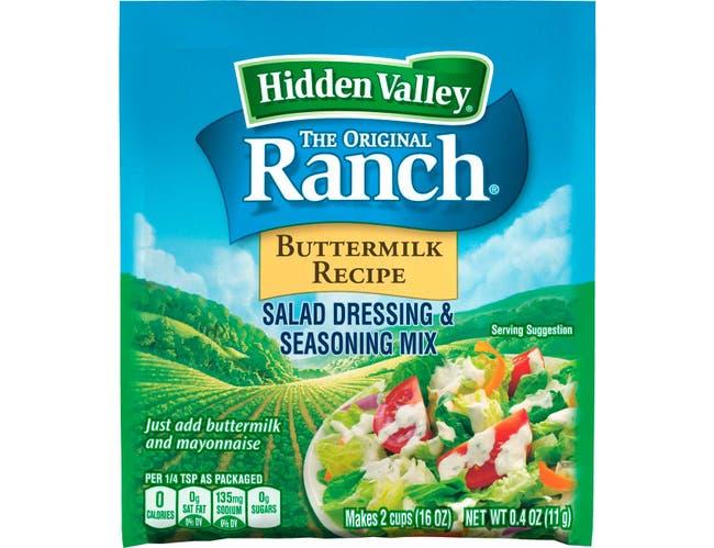 Clorox Hidden Valley Original Buttermilk Ranch Dressing Dry Mix, 0.4 Ounce -- 24 per case.