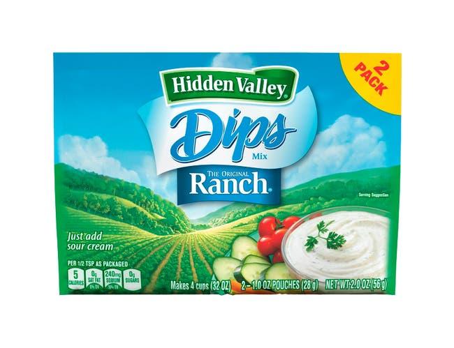 Hidden Valley Original Ranch Twin Pack Mix, 12 Case -- 2 Ounce