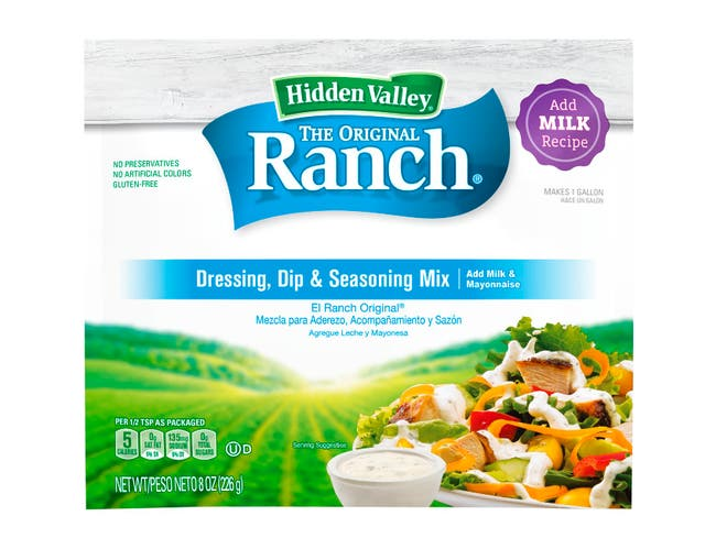 Hidden Valley Original Ranch Dry Dressing Mix, 8 Ounce -- 12 per case.