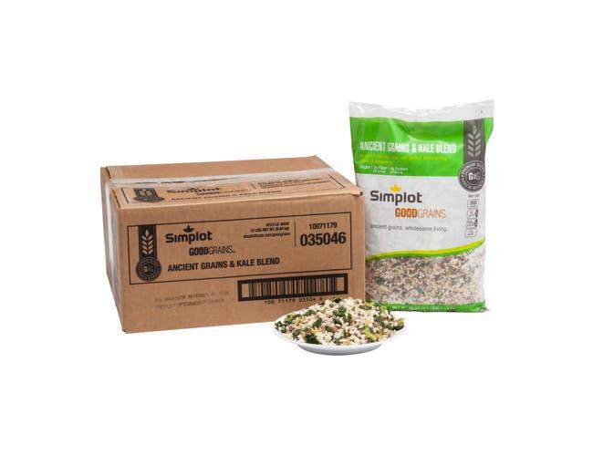 Simplot Good Grains Ancient Grain and Kale Blend, 2.5 Pound -- 6 per case.