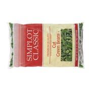 Simplot Regular Cut Green Beans - 32 oz. package, 12 packages per case
