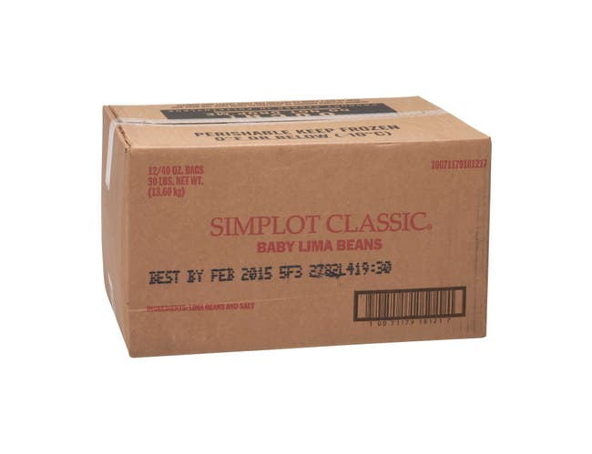 Simplot Baby Lima Beans - 40 oz. package, 12 packages per case