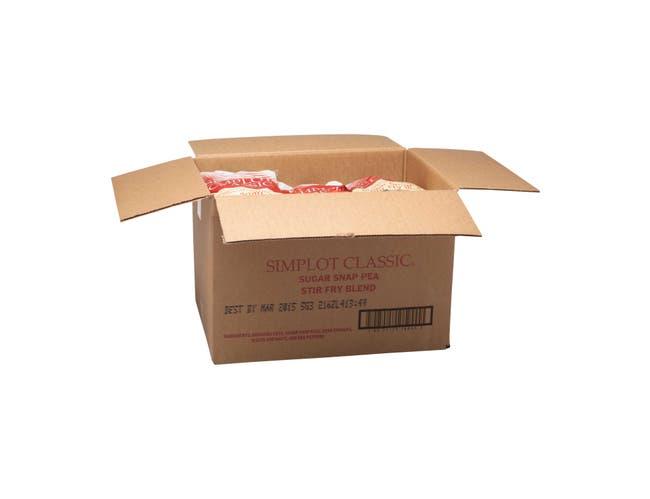 Simplot Sugar Snap Pea Stir Fry - 32 oz. package, 12 packages per case