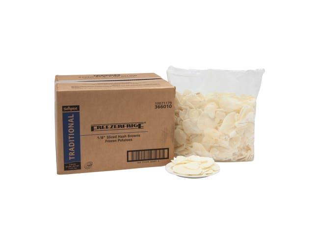 Simplot Hash Brown Freezerfrige Potato - Sliced, 5 Pound -- 6 per case.