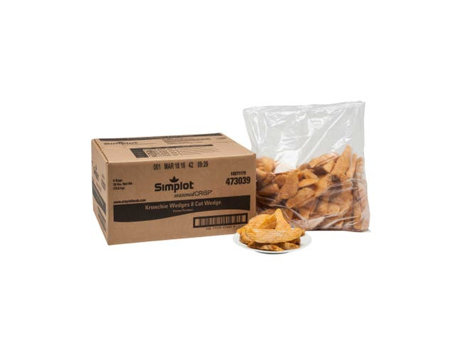 Simplot SeasonedCrisp Krunchie Wedge 8 Cut Crinkle Cut French Fry, 5 Pound -- 6 per case.